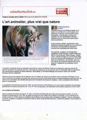 Journal Le Soleil, Québec, Canada. Juillet 2010