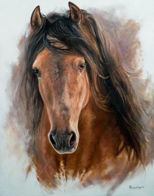 RG4-008 Portrait d'Aragorn, 28 po X 22 po