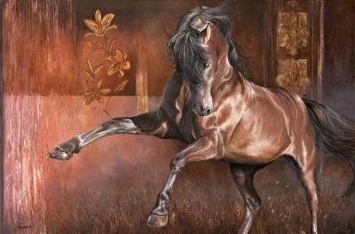 RG4-021 Le Petit cheval de fer, 48 po X 72 po