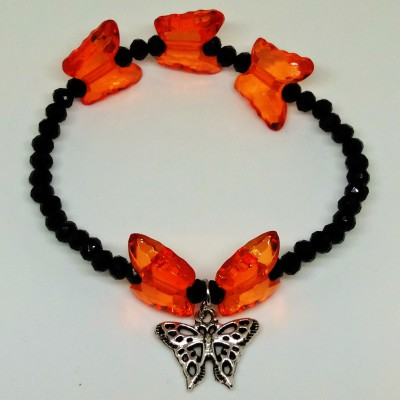 BUTTERFLY TRIO-VAIN & VOGUE (HEART BEAT BEAD BRACELETS)