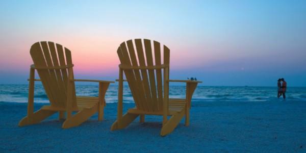 Beach Chairs at sunset