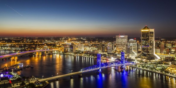 Jacksonville Night Skyline