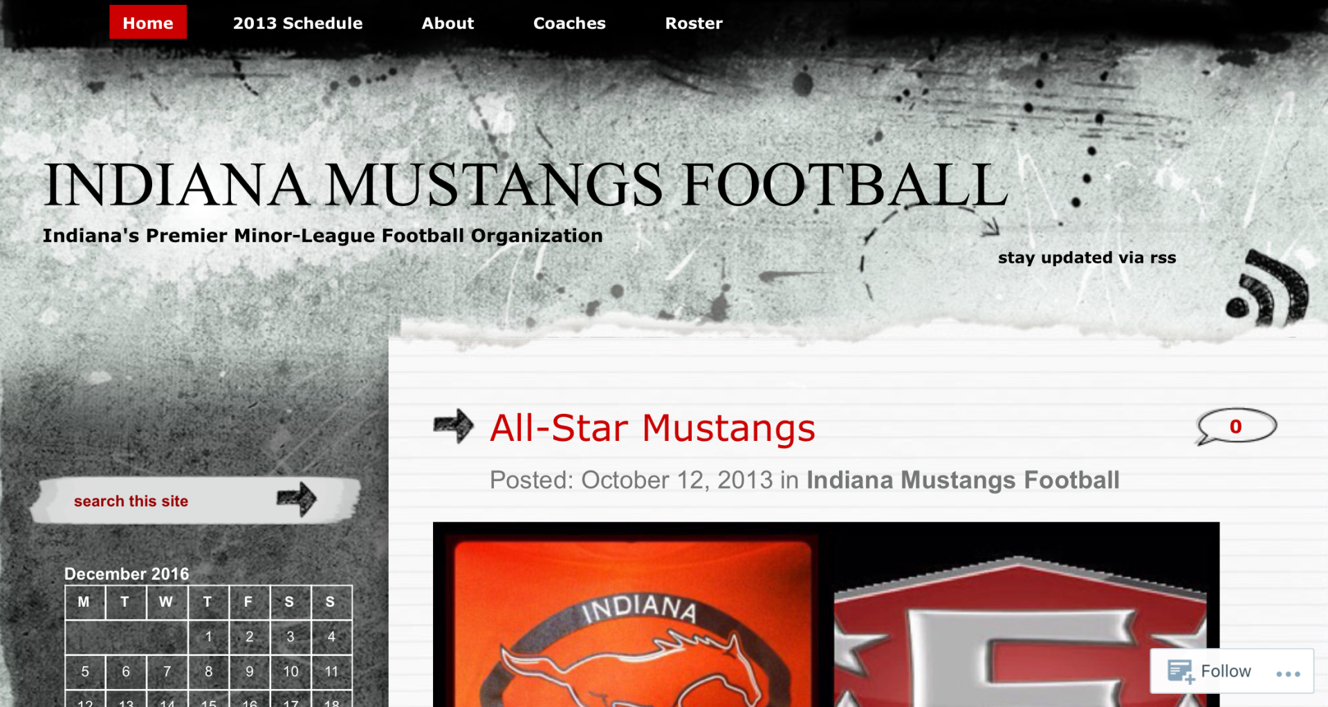 INDIANA MUSTANGS FOOTBALL