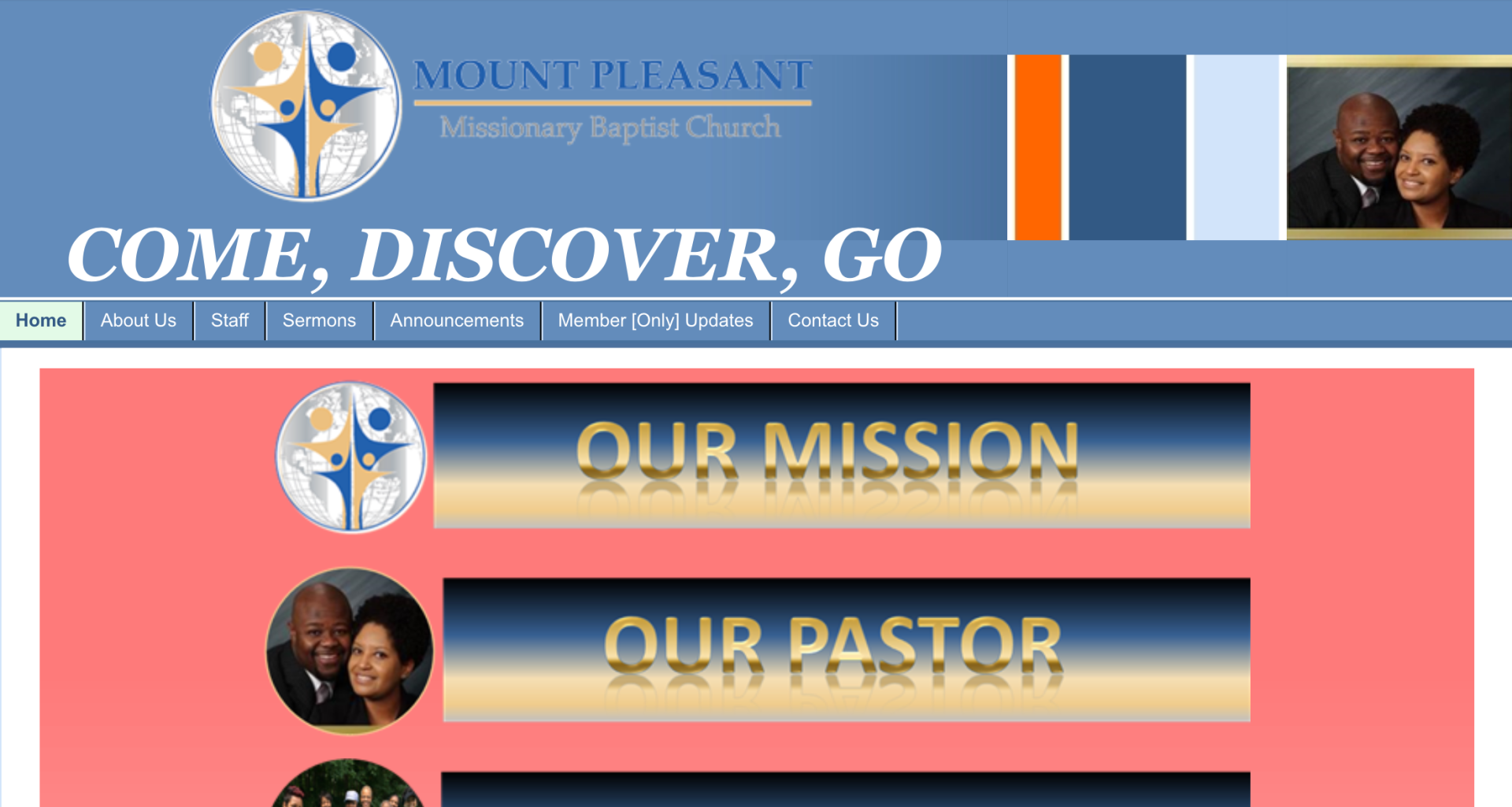 MOUNT PLEASANT MISSIONARY BAPTIST CHURCH