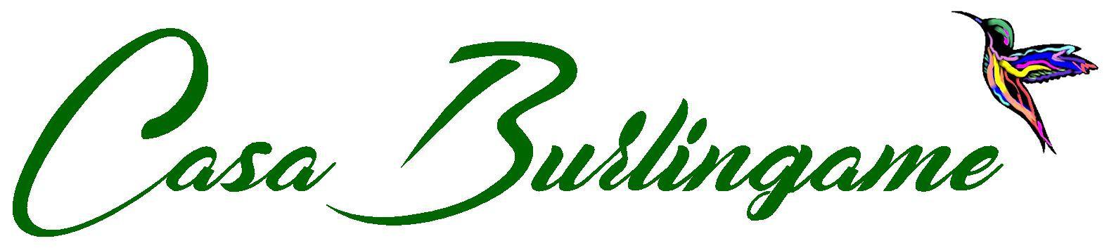Casa Burlingame Logo with Hummingbird