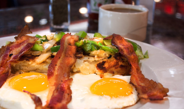 Eggs Over Easy with Bacon