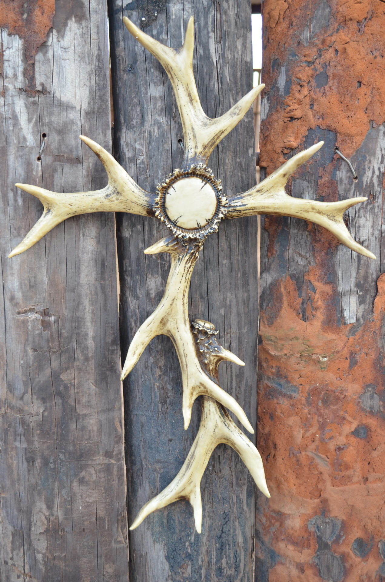 Large Antler Wall Cross