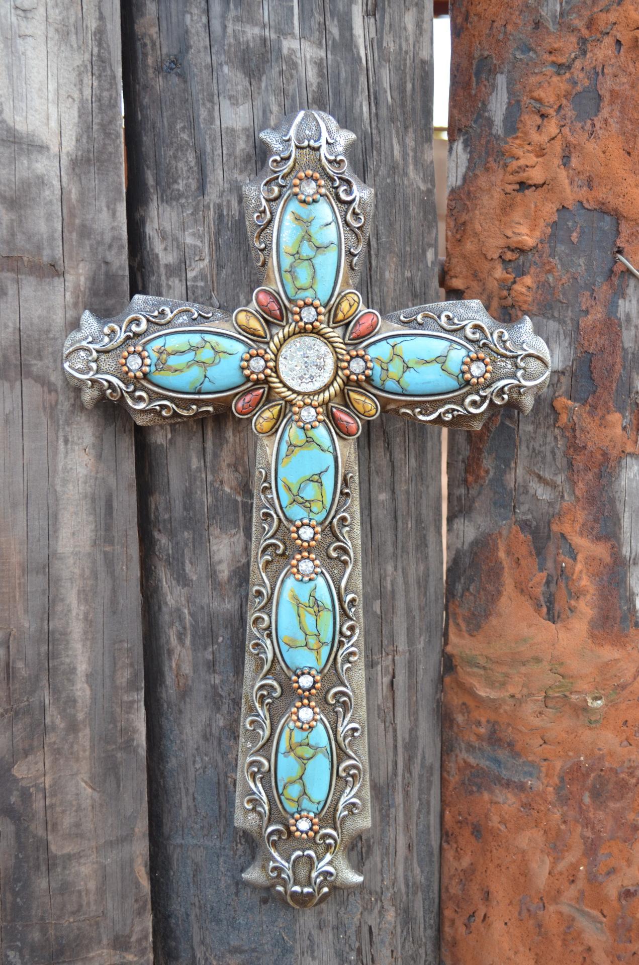 Turquoise Wall Cross