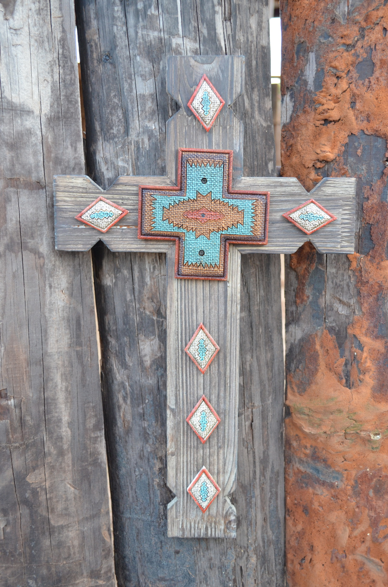 Aztec Wood Cross