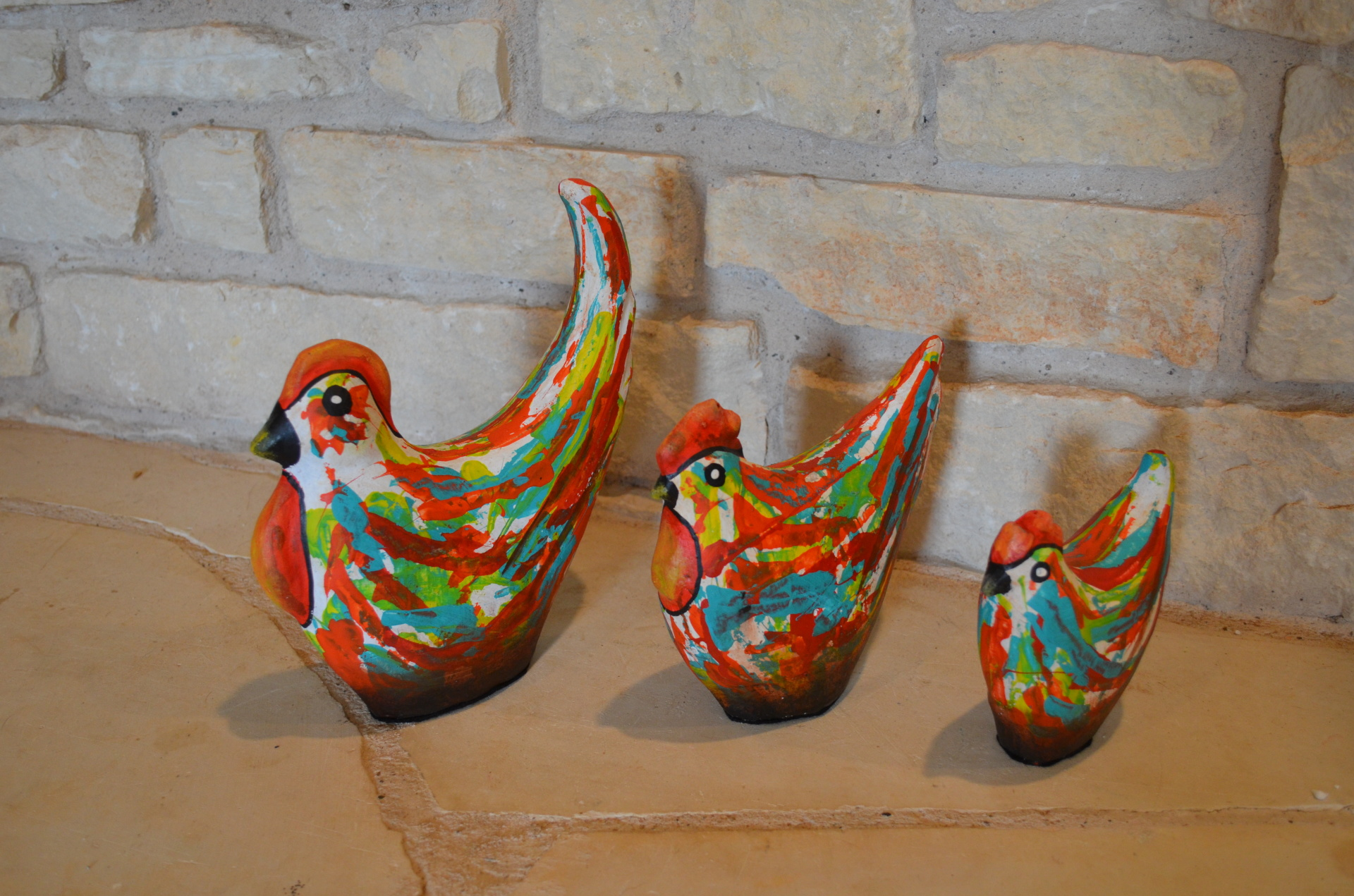 Painted Chickens
