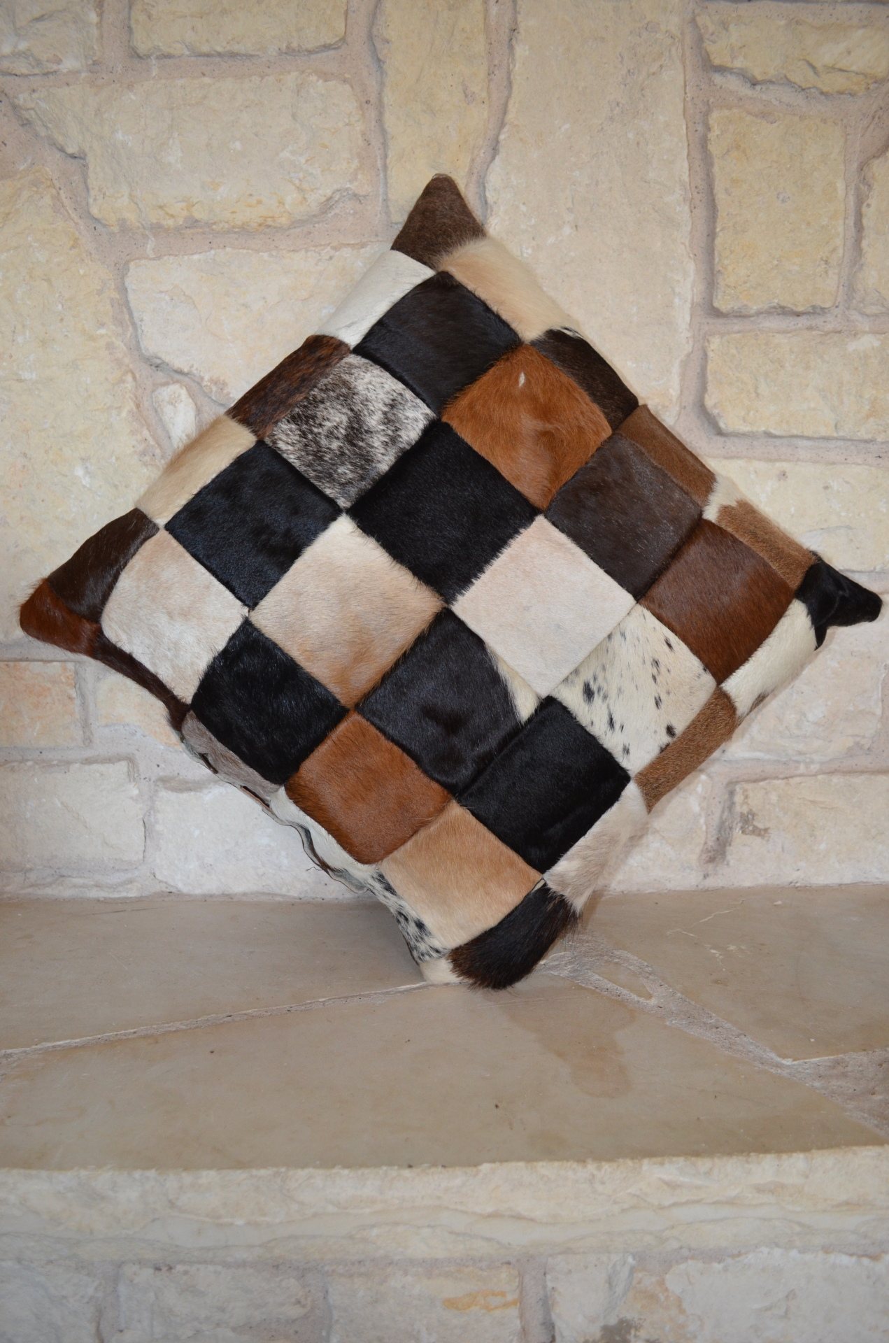 Star/Patchwork Hide Pillow