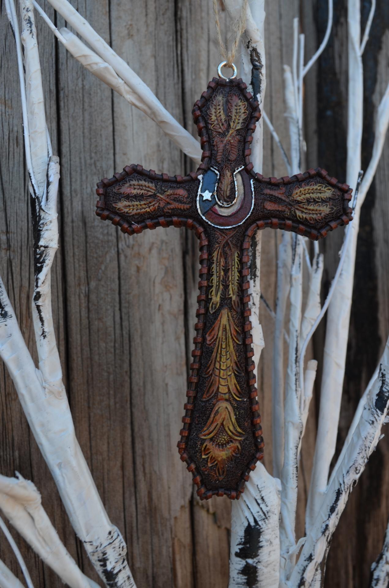 Texas Cross ornament SET