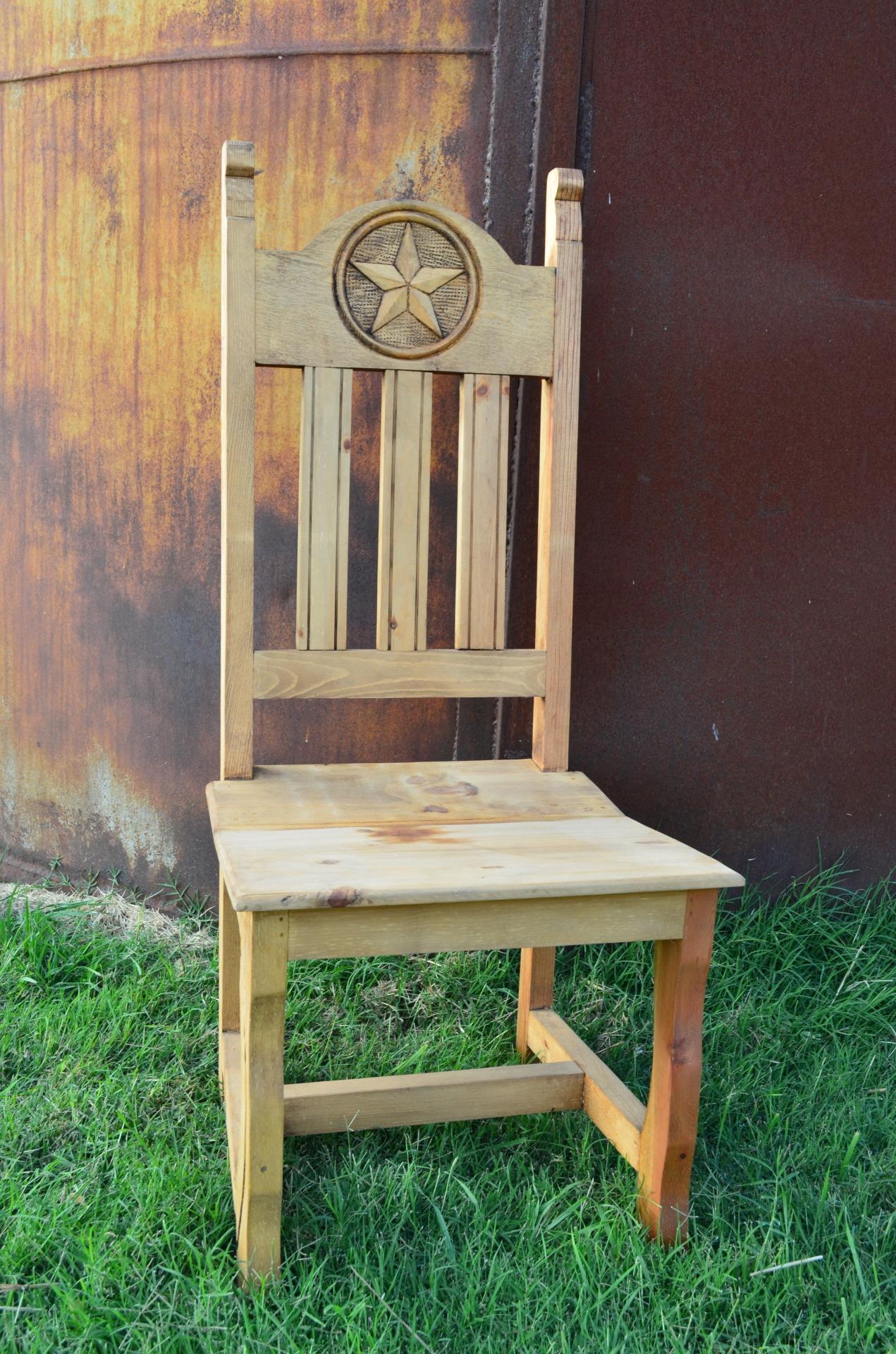 Texas Star Wooden Chair $138