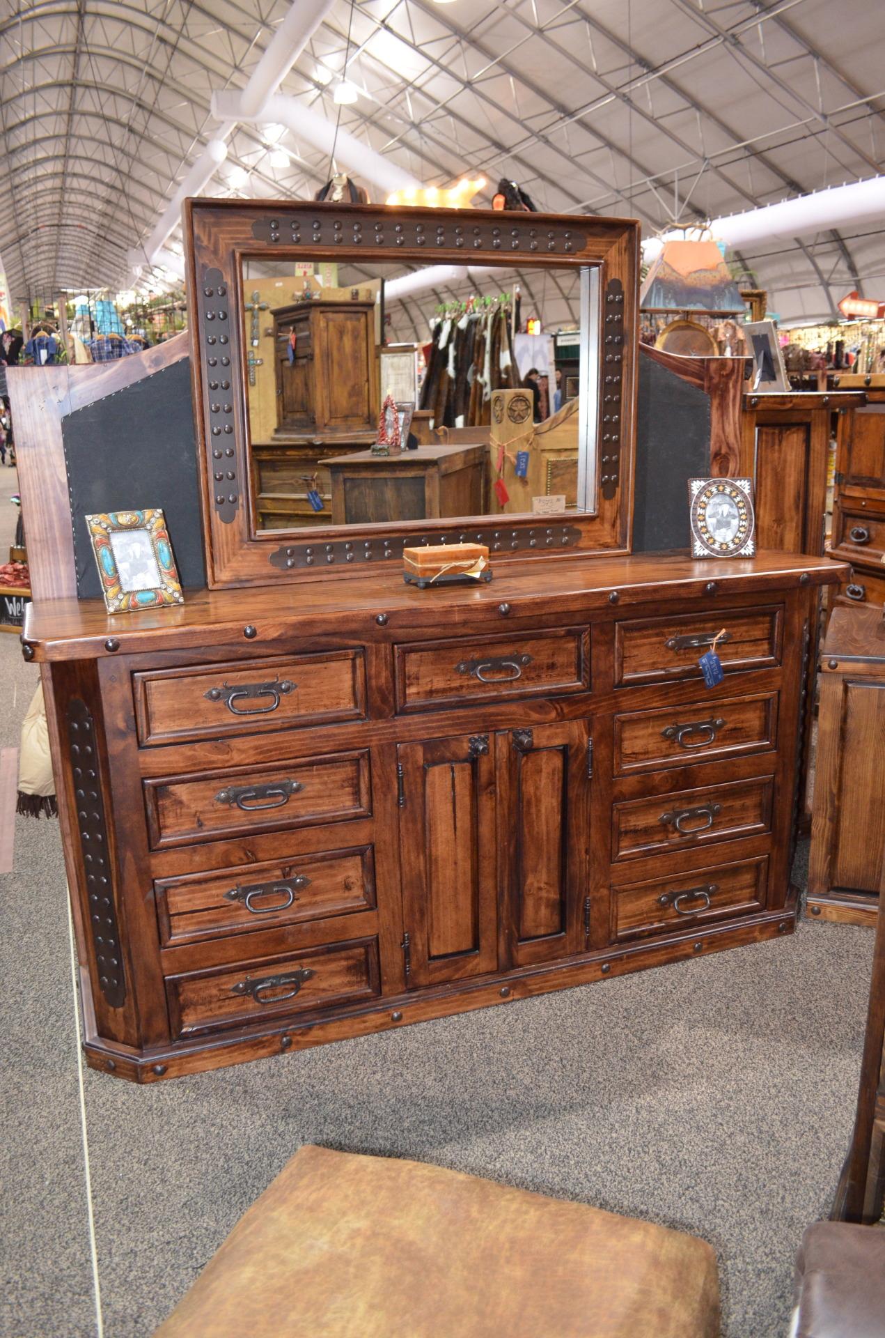 "Fine Lacquer 84"" Dresser with Mirror.  $3245"