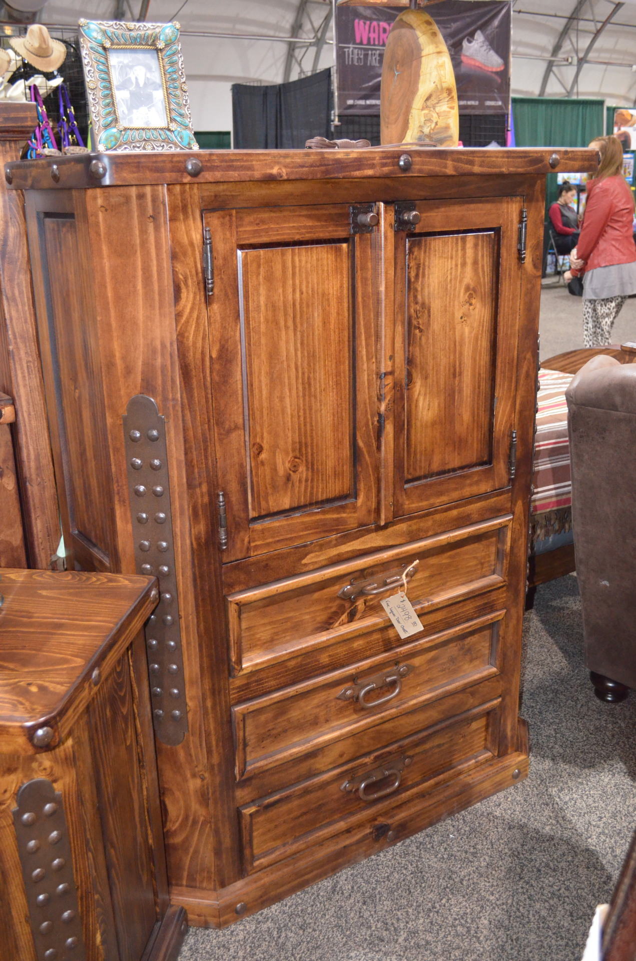 Fine Lacquer Door Chest.  $2498