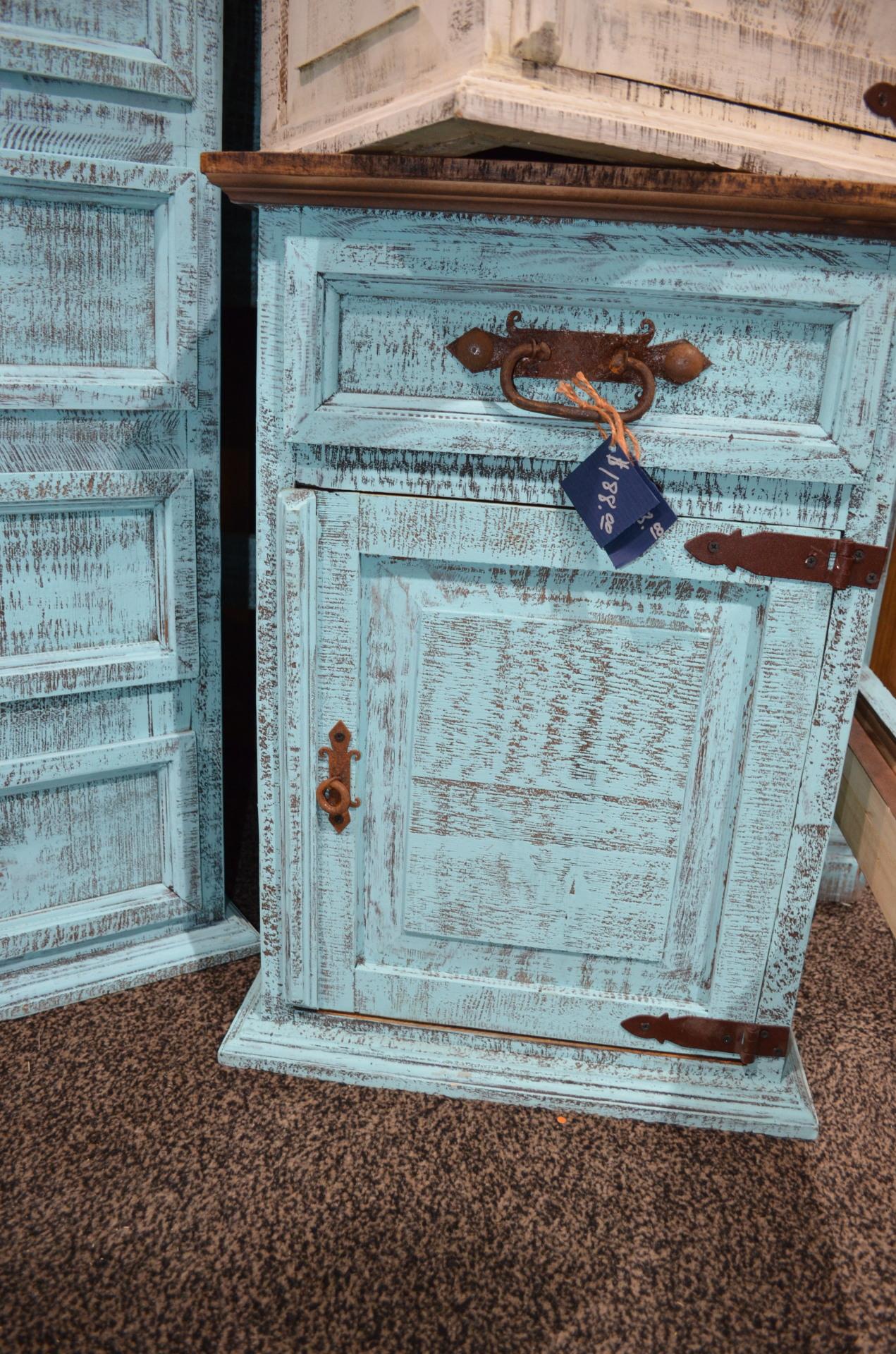 Turquoise nightstand(left). $188