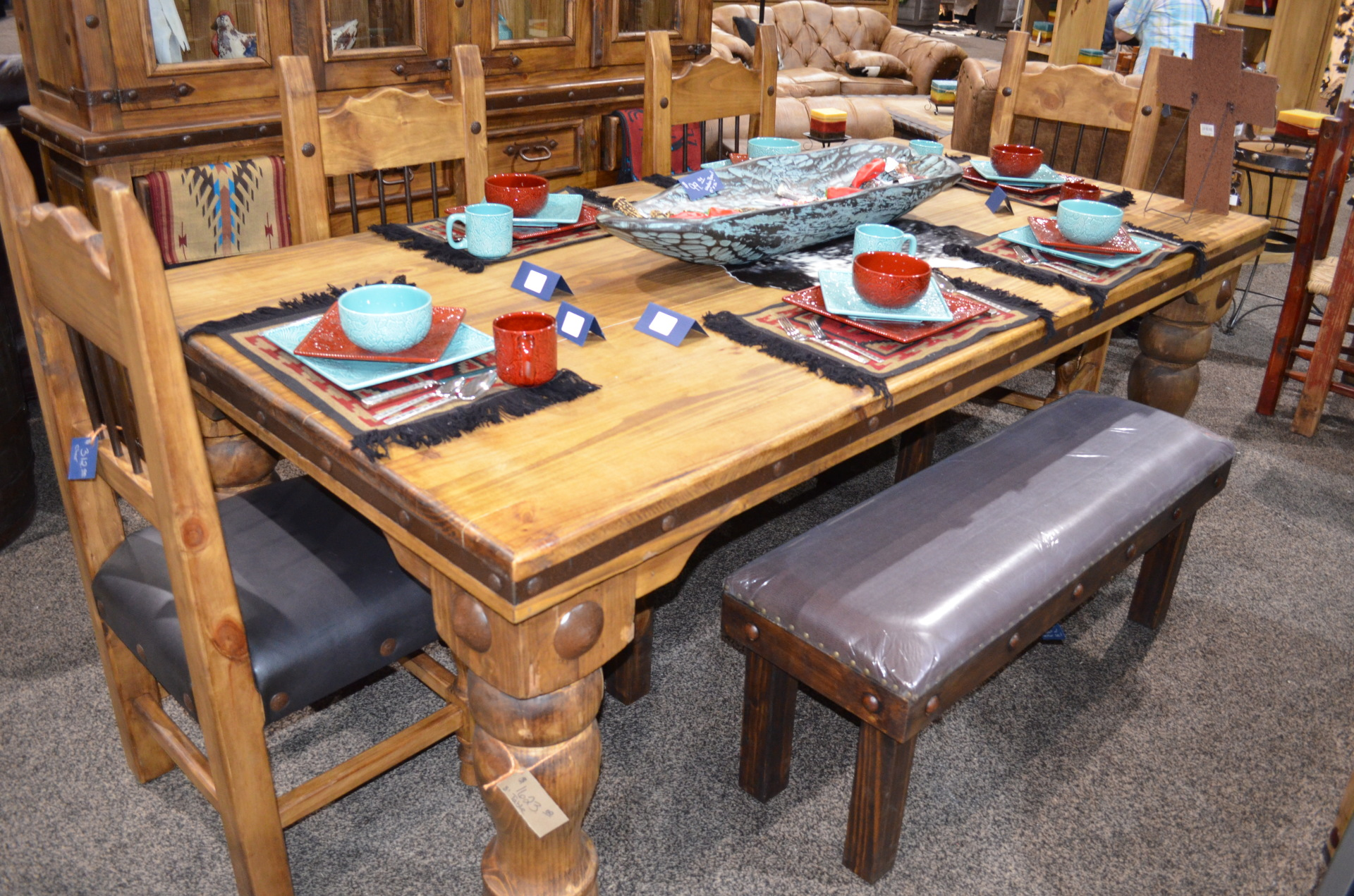 8' Rustic Wood Dining Table.  $1623