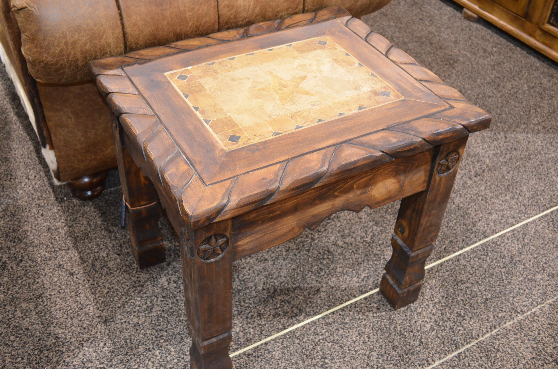 Rope, Stone, Star End Table. $338