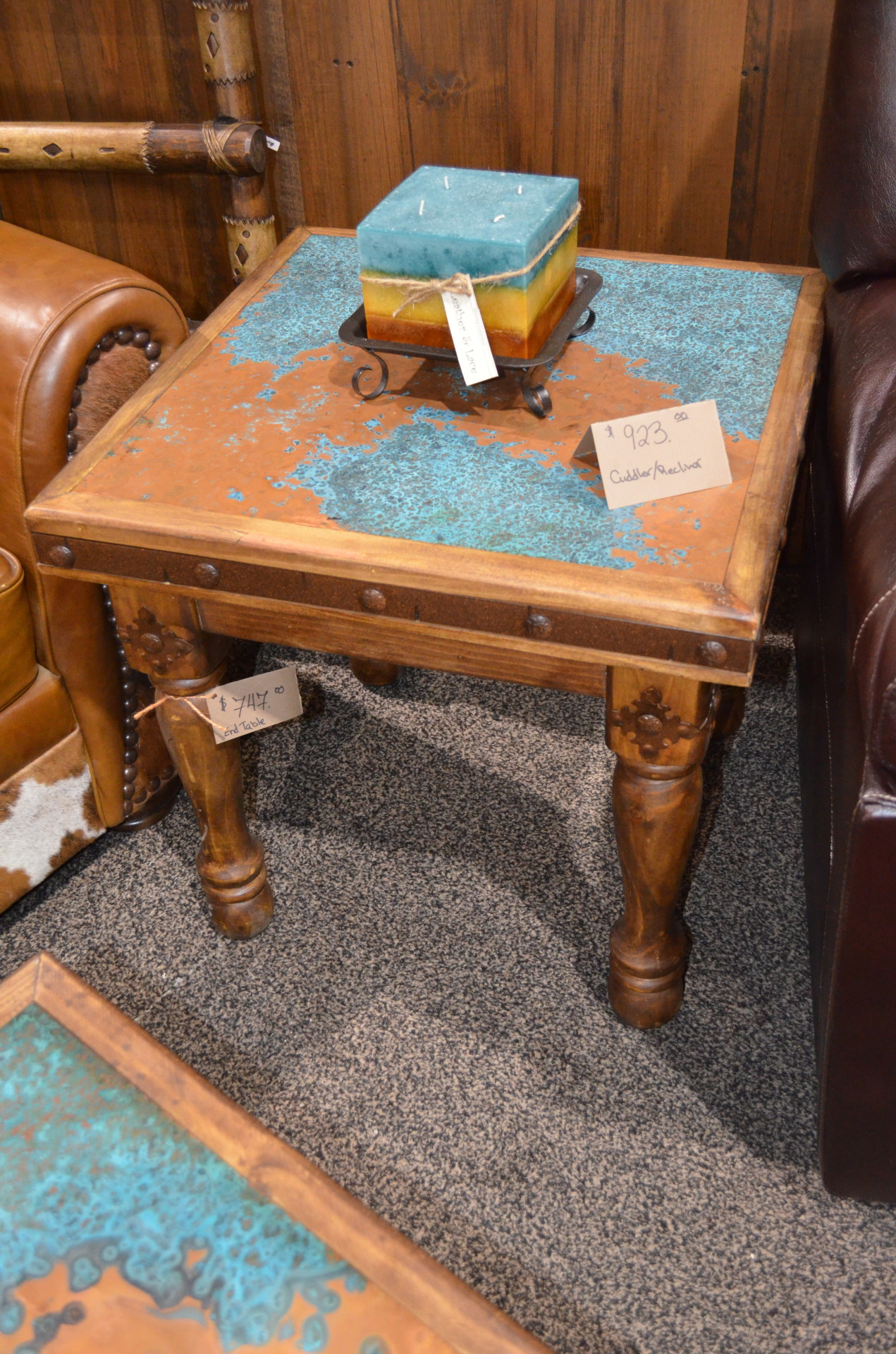 Copper End Table.  $747