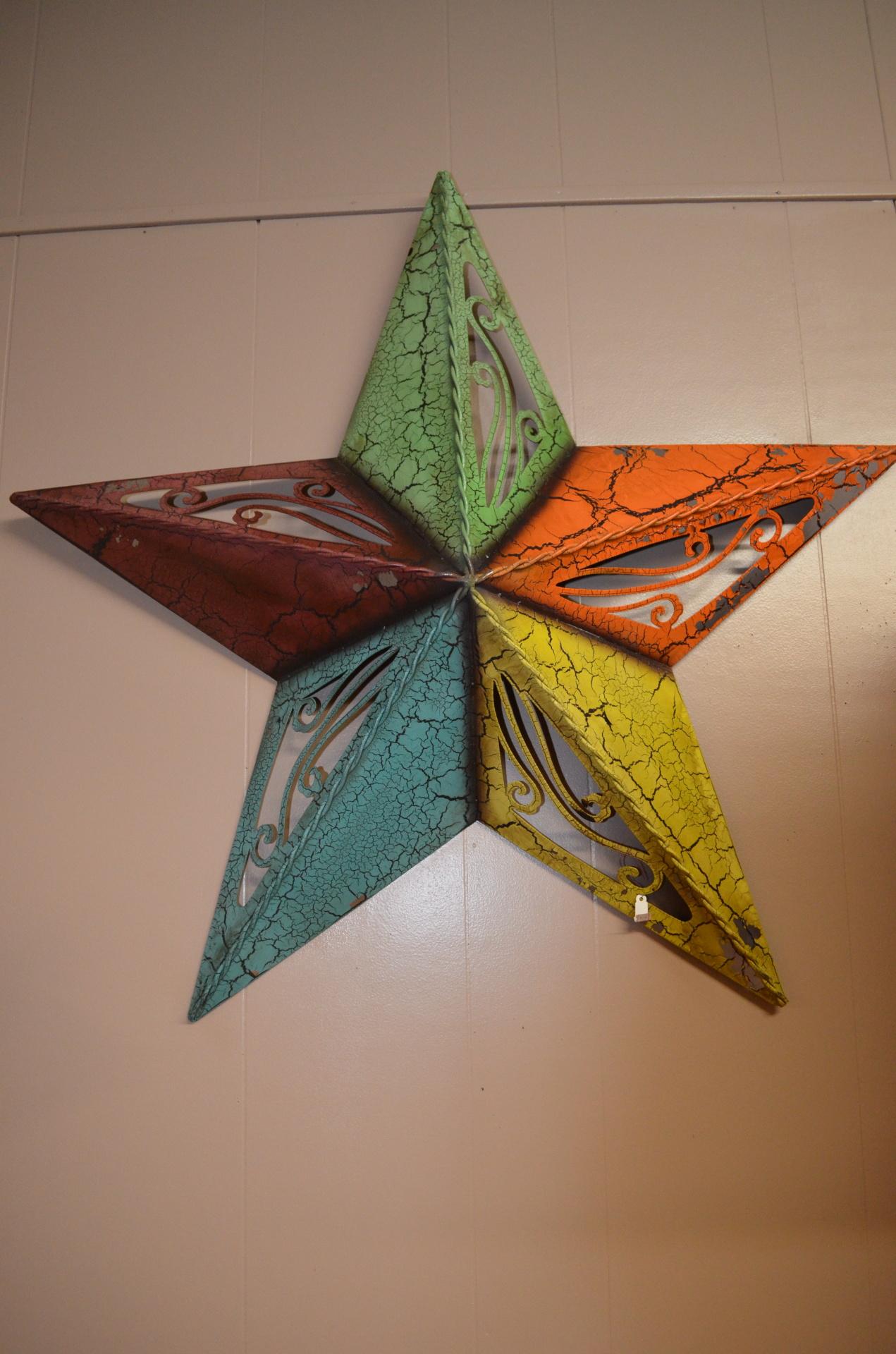 Medium Colorful Metal Star- $25.99