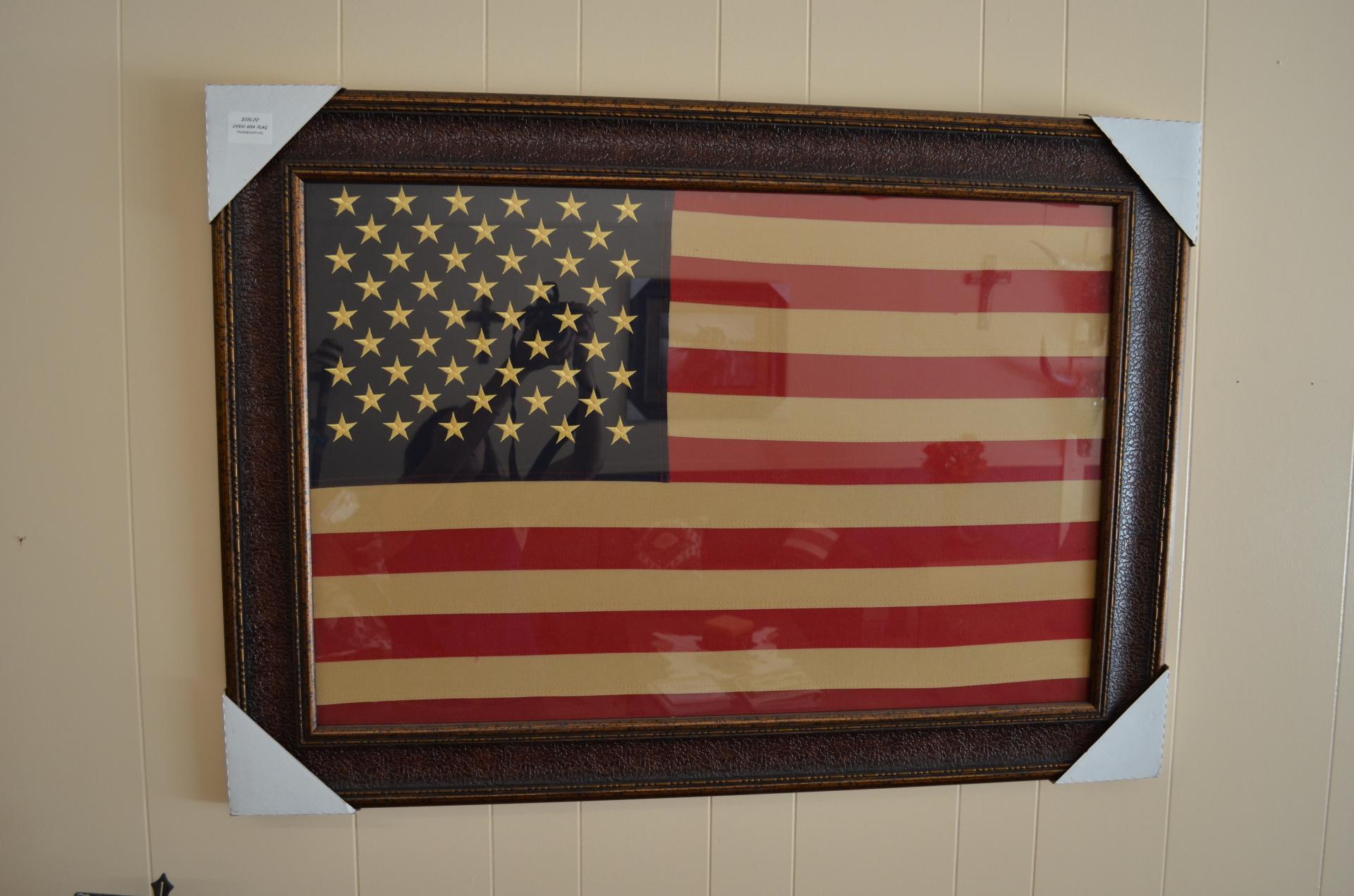 Framed American Flag- $116