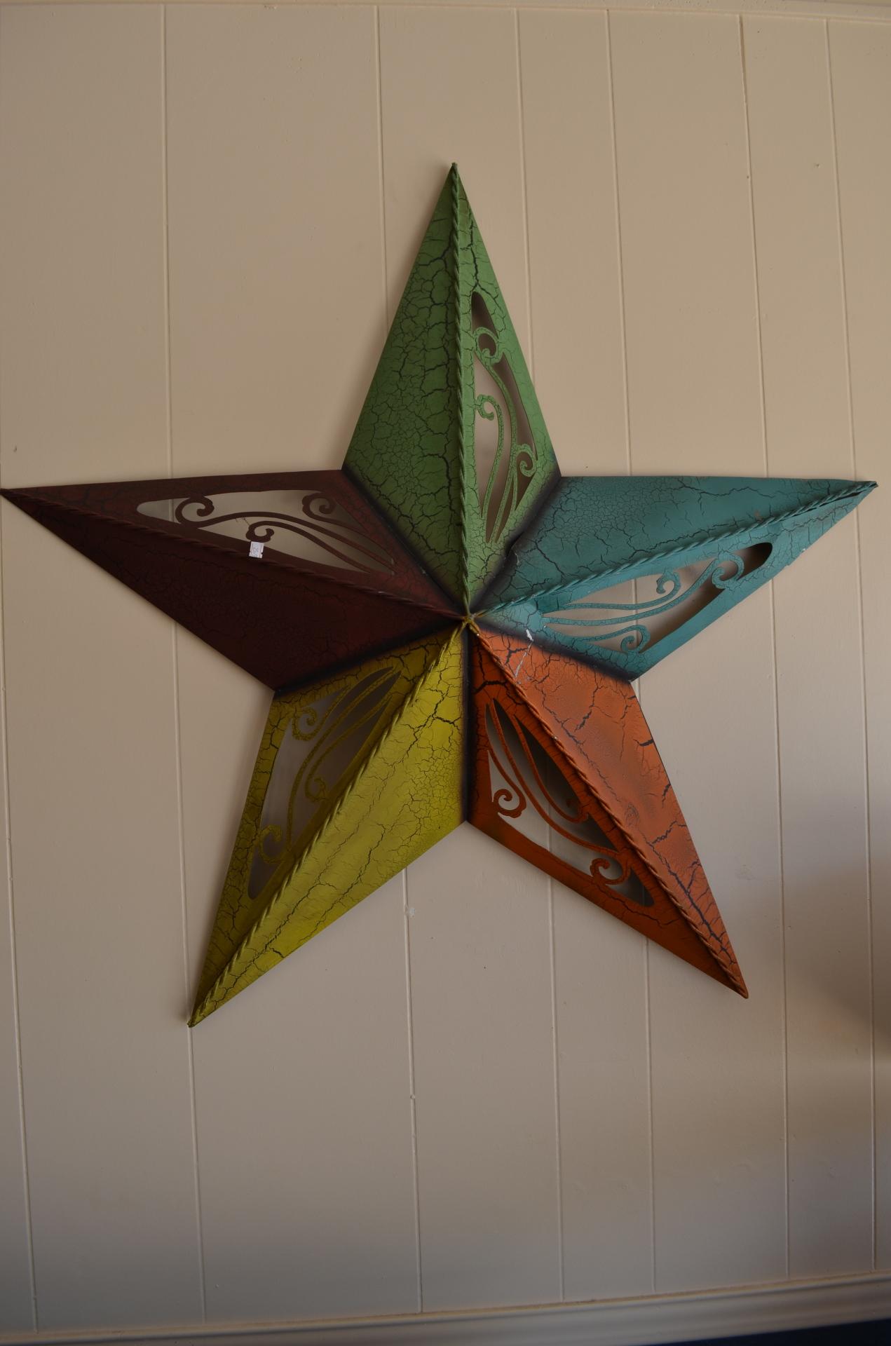 Large Colorful Metal Star-$25.99