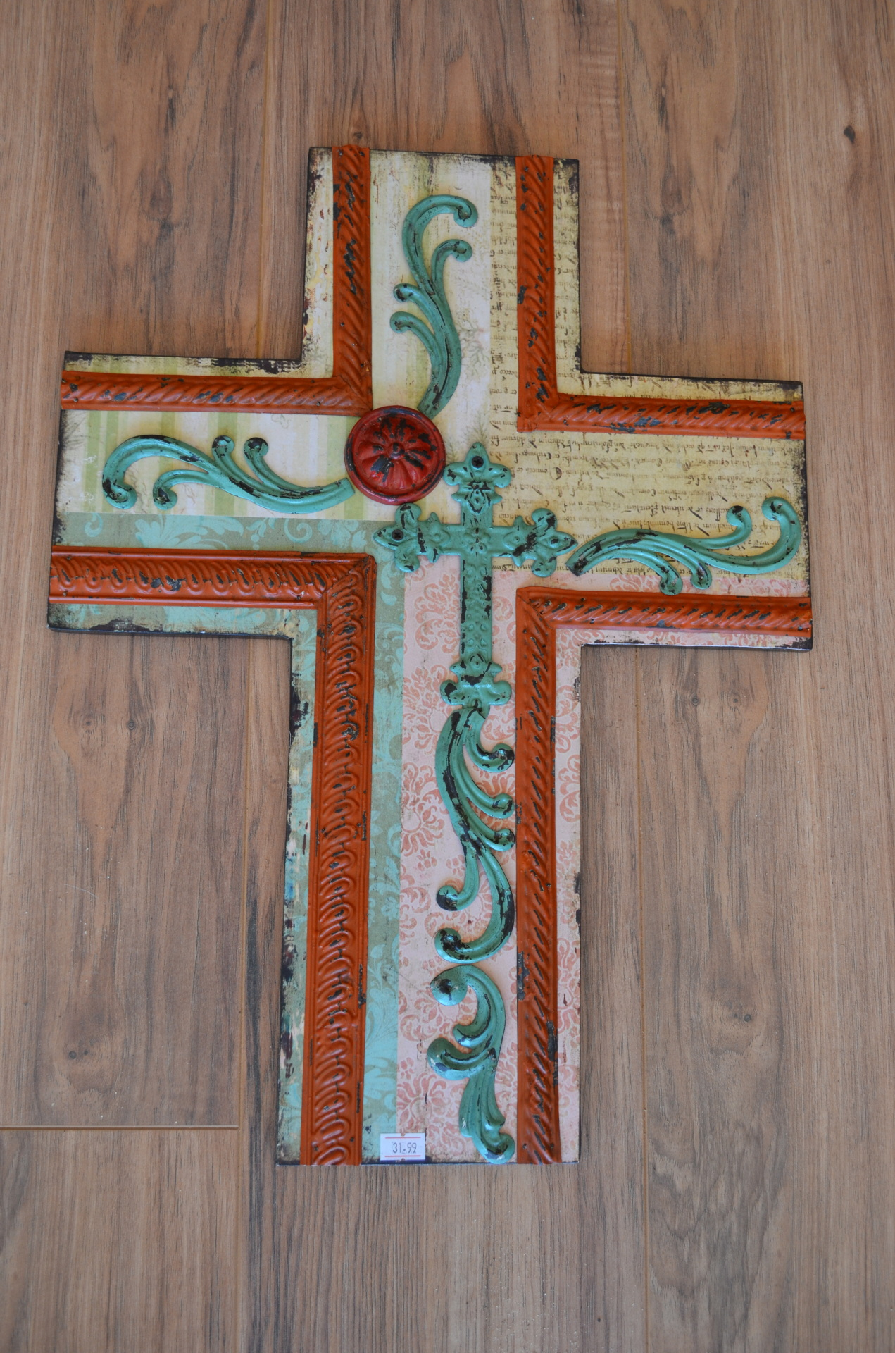 Cross with Metal embellishments-$31.99