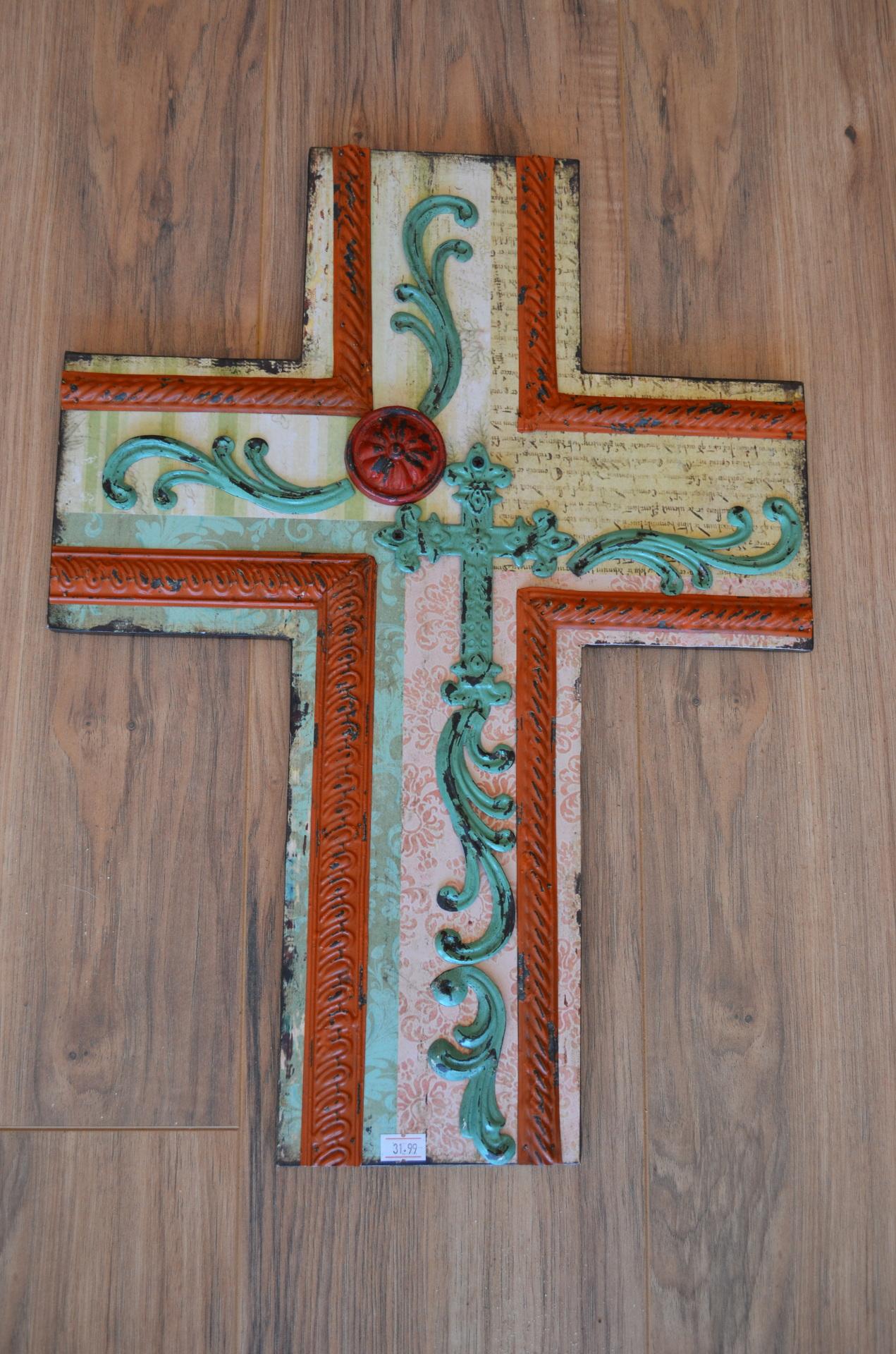 Cross with Metal embellishments-$31.99