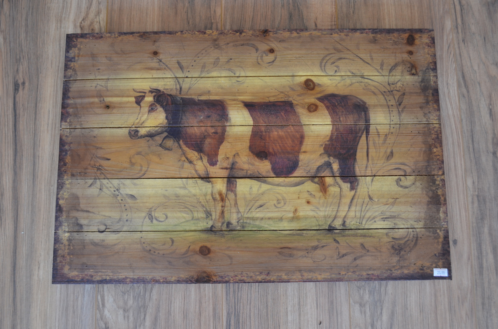 Milk Cow Plaque- $21.99