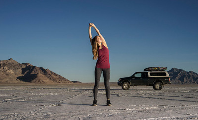On the road or at home: Yoga just about anywhere!