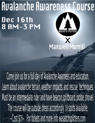 Avalanche Awareness Course Dec 16