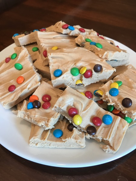 Peanut Butter M&M Fudge