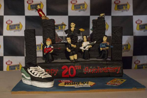Vans Warped Tour 20th Anniversary cake