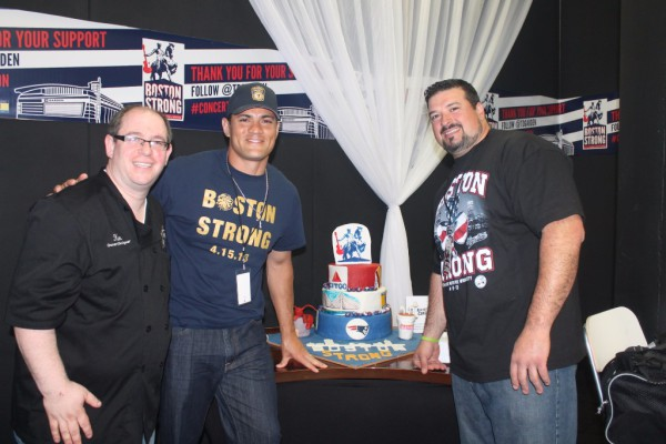 Tedi Bruschi and Joe Andruzzi at Boston Strong