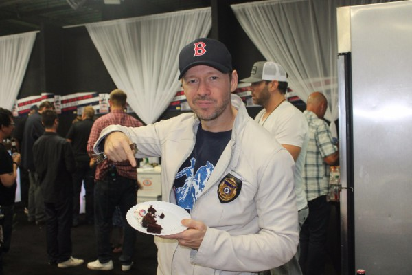 Donnie Wahlberg enjoying Kentastic Cakes at Boston Strong