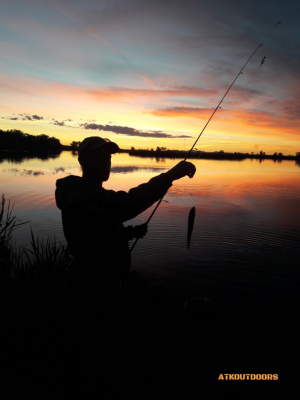 fishing silhouette photo