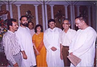 Dr. V.K Saxena with noted Poet Late Sh. Bharat Bhushan ji. Famous Shayar Sh. Nawaz Devbandi and Politician Sh. Mairazuddin Ahmed