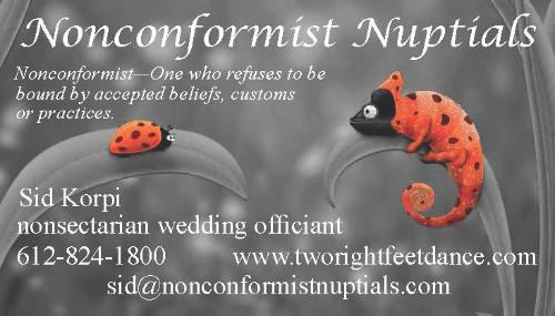 Nonconformist Nuptials —Wedding Officiant
