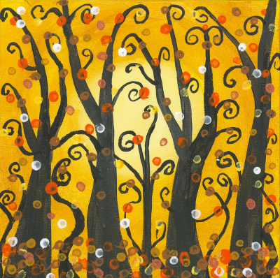 Yellow Fanciful Trees