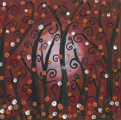 Red Fanciful Trees