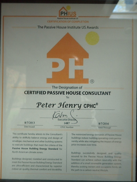 PHIUS Certification of Residence