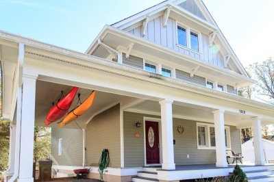 Porch and Carport with Kayak Storage