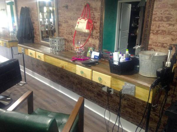 Stylist Stations with Purse Hooks to Keep Your Purse Off The Floor