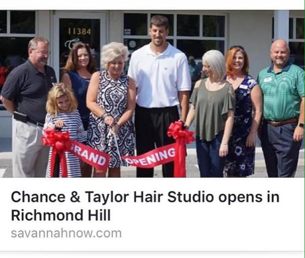 Ribbon Cutting Celebration for our Salon Opening