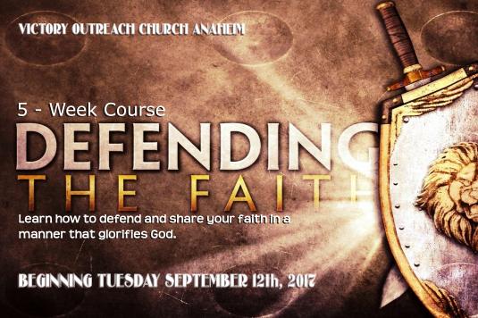 Tuesday Night's Class Defending The Faith