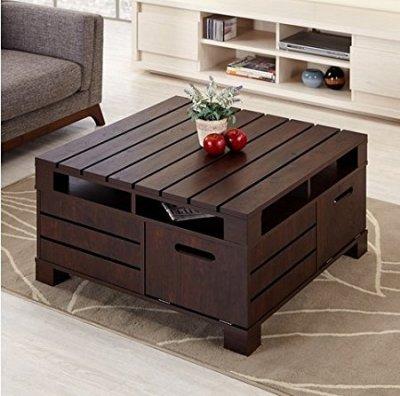Walnut  Table with Storage