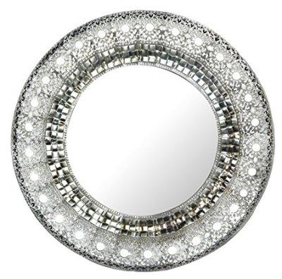 Lulu Silver Metal Mirror