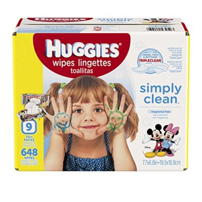 Baby Wipes,Pack of 9 (648 Total)