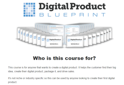 Digitial Product Blueprint, Digital Product Blueprint Video Series, Digital Product Bluepring Webinar