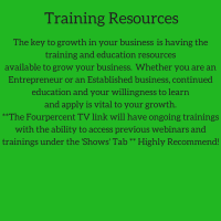 training resources,continued education,training,growth of your business